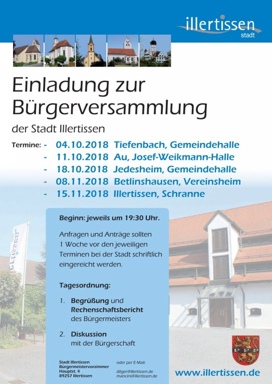Bürgerversammlung 2018
